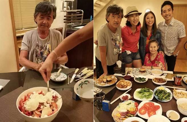 林子祥慶祝73歲生日,跟老婆葉蒨文同框,被說有些像父女。(取材自葉蒨文微博)