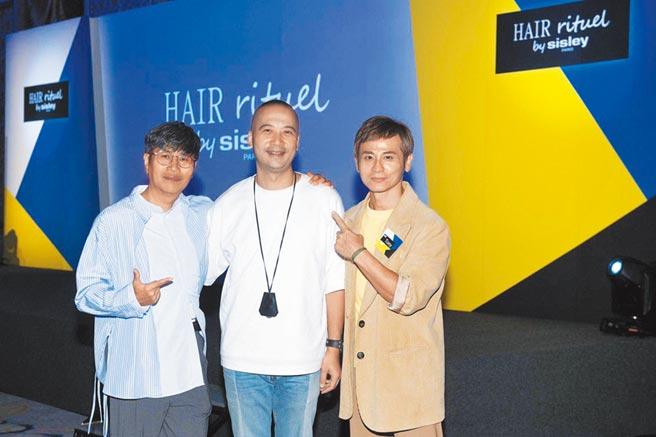 髮型師John(左起)、Ivan、Tony。(Hair Rituel by Sisley提供)