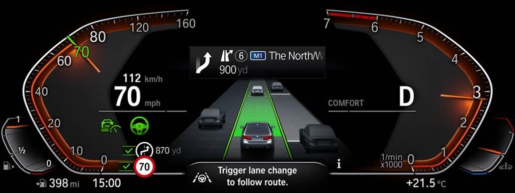 今年新增的主動導航嚮導(Active Navigation Guidance)和緊急車道輔助(Emergency Lane Assistant)功能,應可算是2021年首款高階自動駕駛車款iNext上市前的「暖身」。Active Navigation Guidance在啟動衛星導航時,為了主動處理繼續沿所選路線行駛所必需的變道,駕駛可以藉助車道變更輔助功能方便地執行此操作。緊急車道輔助系統則可在高速公路擁擠的情況下,自動將車輛引導到安全合適的車道。