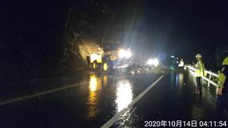 宜蘭強降雨蘇花公路多處坍方 公路總局連夜搶通
