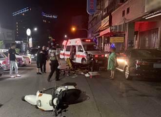 高雄左營機車撞傷行人棄車逃逸 騎士到案說明