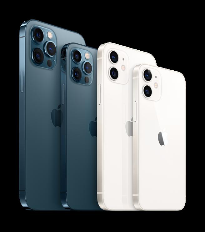 蘋果在10月份發表會中,終於揭曉iPhone 12全系列的樣貌。(蘋果提供/黃慧雯台北傳真)
