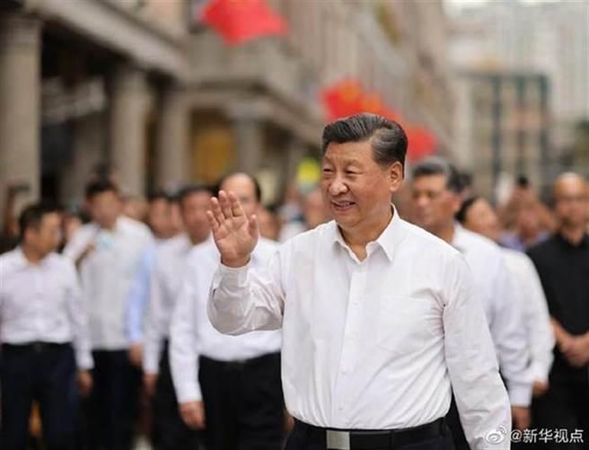 大陸國家主席習近平表示,要積極推進粵港澳大灣區建設。(新華社)