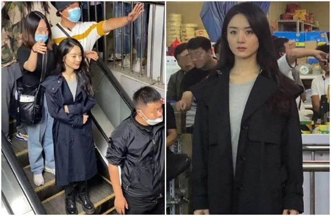 赵丽颖被网PO出拍网路剧《谁是凶手》的侧拍照。(图/取材自微博)