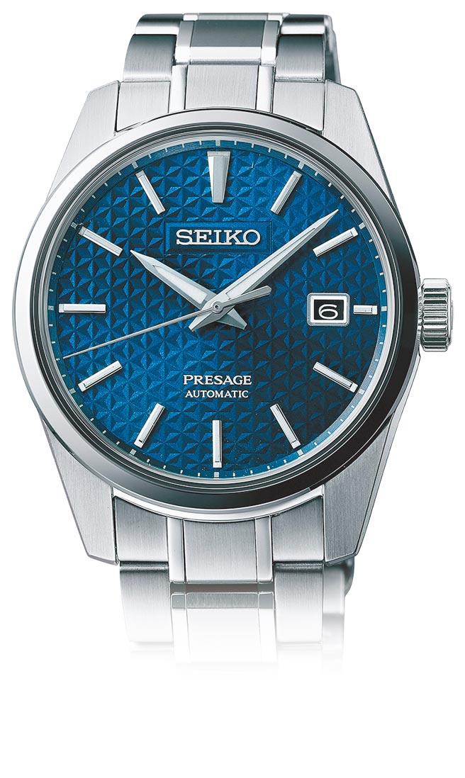 SEIKO的Presage系列Sharp Edged腕表,蓝铁色表盘款,3万2000元。(SEIKO提供)