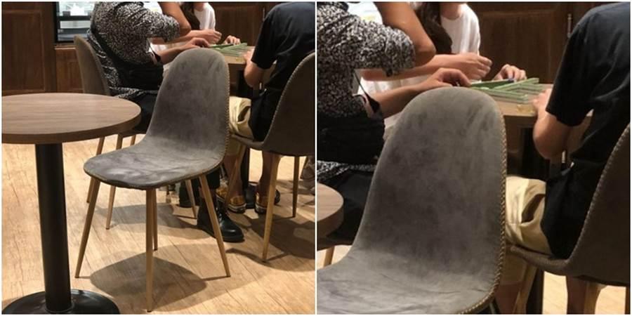 有民眾發現連鎖品牌路易莎有人圍成一圈,打麻將。(圖/翻攝自Dcard)
