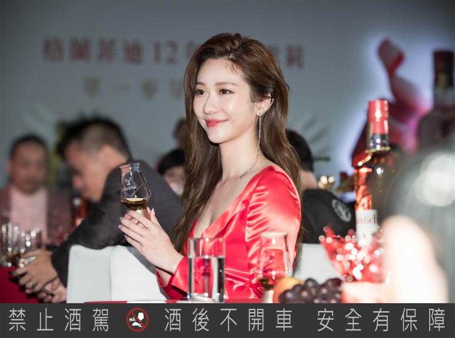 张景岚14日出席格兰菲迪威士忌品牌新品发表会。(格兰父子提供)
