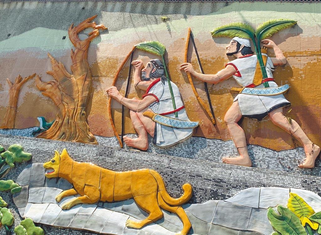 狩獵是原住民重要傳統,部落以壁畫傳承獵人文化。(廖志晃攝)