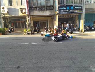 老婦穿越馬路與機車騎士碰撞 2人傷重急救