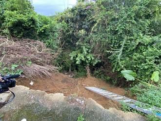 和平島天顯宮驚傳邊坡坍方 危及下方學童安全
