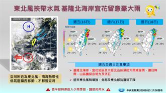 明東北風再增強 入夜暴雨炸5地:雨一直下到周末