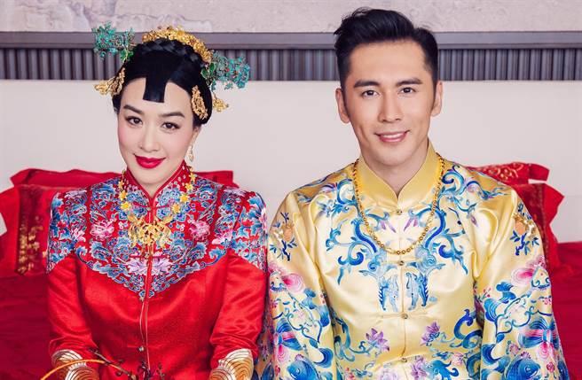 鍾麗緹2016年三婚嫁給小12歲大陸男星張倫碩。(圖/本報系資料照)