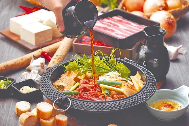比漾廣場MoMo Paradise換上全台最新店型,壽喜燒中餐409元至459元、晚餐529元至579元。(比漾廣場提供)