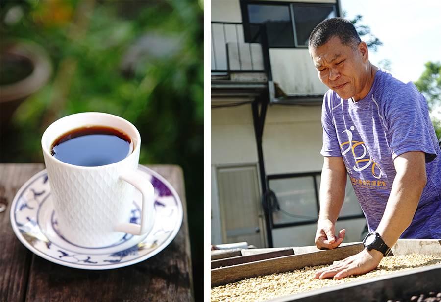 林老師的台灣咖啡自種自烘,為萬山部落咖啡打出名號。(圖/曾信耀攝)