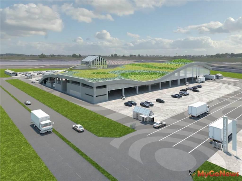 新化果菜市場獲得綠建築與智慧建築兩大標章 黃偉哲認為將是南部重要的青果拍賣中心(圖:台南市政府)