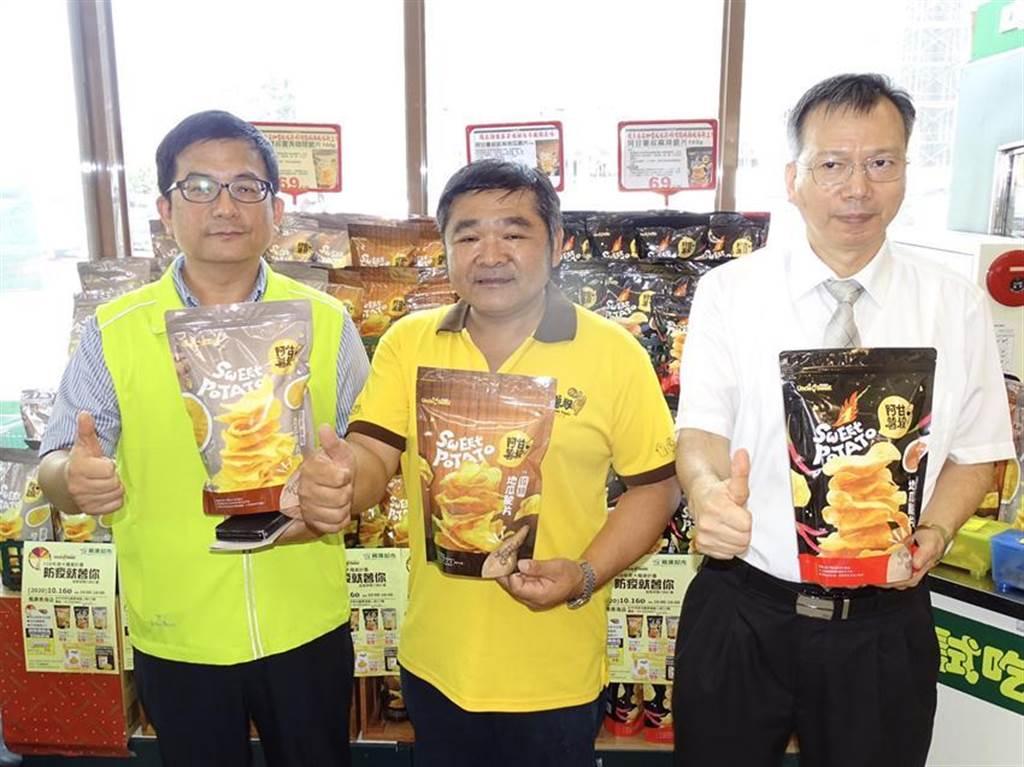 農糧署與楓康台中青海店攜手合作,共同推廣國產甘藷行銷活動。圖/曾麗芳攝