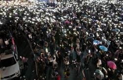 泰國反政府示威佔領鬧區路口 晚間和平散場