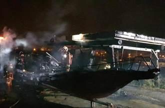 澎湖遊艇大火燒到剩船殼 船主為保育志工曾因檢舉遭毆傷
