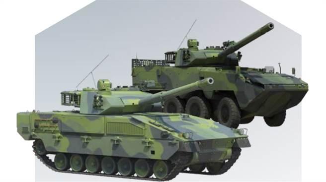 以色列埃尔比特公司提出的2种Sabrah轻型战车。(图/埃尔比特公司)