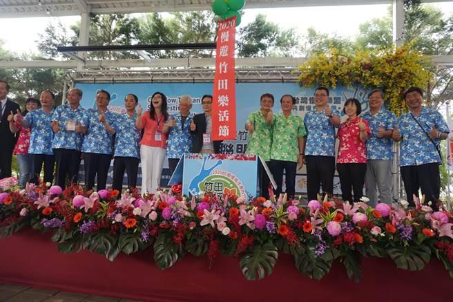 首屆台灣慢城聯盟年會16日在竹田鄉天使花園休閒農場盛大登場。(謝佳潾攝)