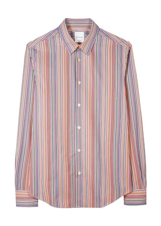 Paul Smith彩虹條紋襯衫,1萬2500元。(Paul Smith提供)