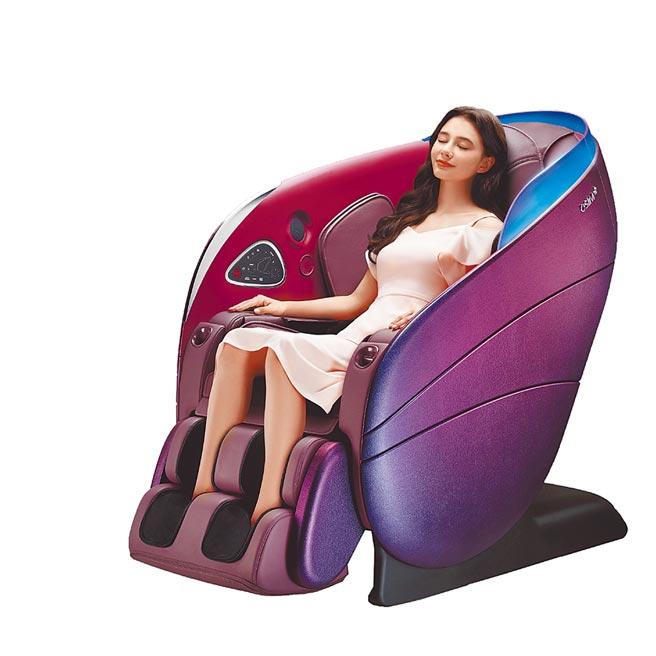 比漾廣場OSIM新品uDream 5感養身椅,原價25萬8000元、特價19萬8000元,滿2000送200外,比漾獨家加贈3000元贈品券,限量20份。(比漾廣場提供)