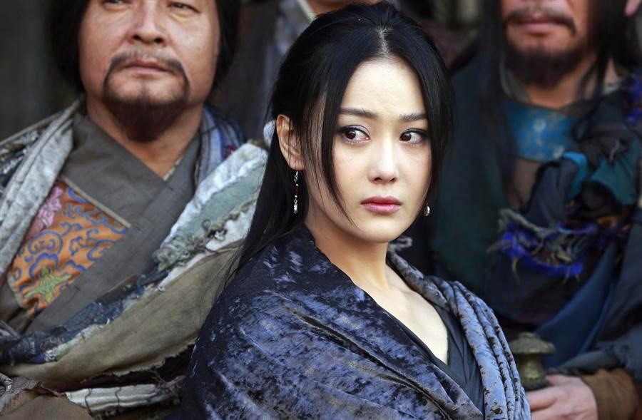 張馨予在電視劇《天龍八部》飾演美艷的馬夫人康敏。(本報系資料照)