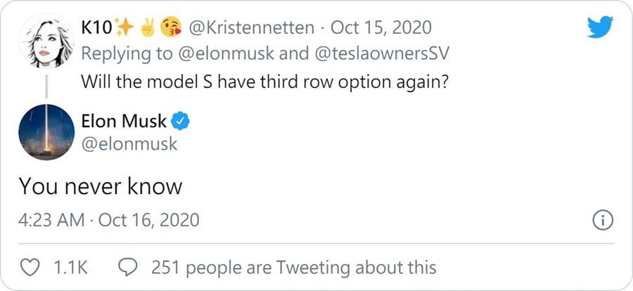 Model S 第三排座椅會復活嗎?馬斯克:很難說喔!