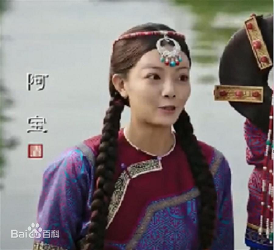 大陆女星王梓芠曾在《如懿传》饰演侍女「阿宝」。(取自百度)