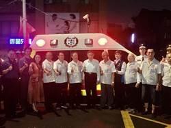 北市廣照宮捐高頂救護車 柯文哲代表受贈