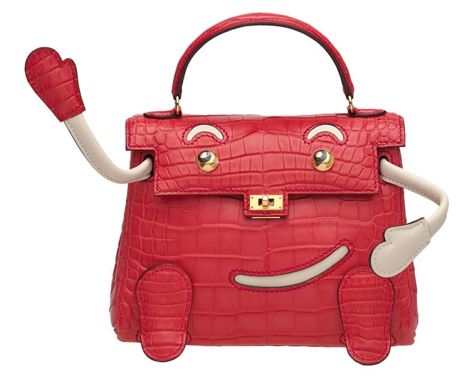 超可爱的凯莉娃娃QUELLE IDOLE包,起拍价35万港币。(Christie's提供)