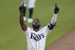 MLB》炮轟太空人 光芒菜鳥轟破新秀紀錄