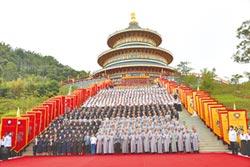 白陽聖廟落成 總統親臨祝賀