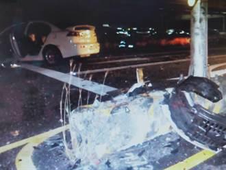 國道10號旗山路段 小客車闖紅燈釀2車相撞6人傷