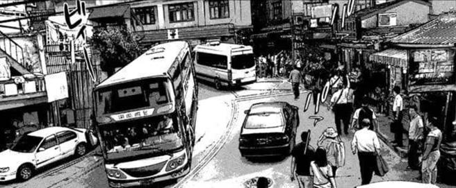 日本喪屍漫畫驚見一畫面,背景竟然是在台灣九份,掀起網友熱議。(圖/截自Reddit)