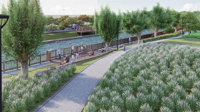 新竹市「港南運河水質水量優化」工程,預計改善水域面積達1.9萬平方公尺,工程預計2021年底完工,屆時港南運河整體環境將再提升。(市府提供示意圖/陳育賢新竹傳真)