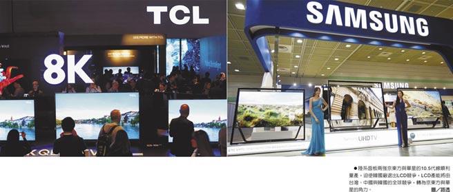 陸系面板兩強京東方與華星的10.5代線順利量產,迫使韓國廠退出LCD競爭,LCD產能將由台灣、中國與韓國的全球競爭,轉為京東方與華星的角力。圖/路透