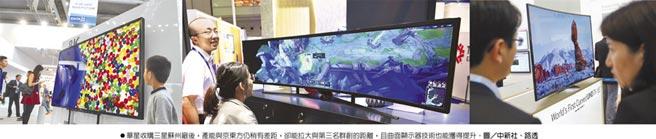 華星收購三星蘇州廠後,產能與京東方仍稍有差距,卻能拉大與第三名群創的距離,且曲面顯示器技術也能獲得提升。圖/中新社、路透