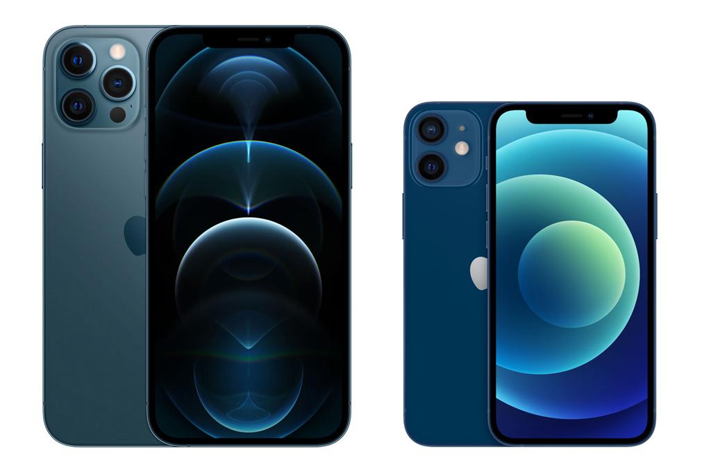 iPhone 12 Pro Max以及iPhone 12 mini。(摘自蘋果官網)