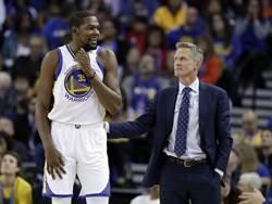 NBA》完全尊重!科爾對KD離隊並不訝異