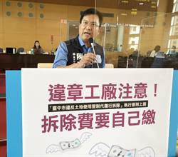 市議員陳文政建議農地違章工廠注意 拆除費要自己繳