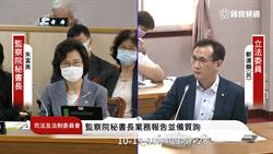 綠委:監院淪政治鬥爭工具 總統以後別再提名