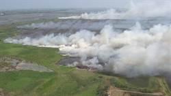 濁水溪出海口一把火 燒掉數公頃防揚塵綠覆地
