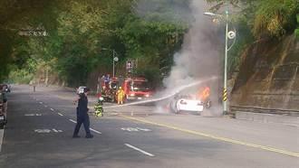 頭社火燒車 集集警消迅速滅火無人傷亡