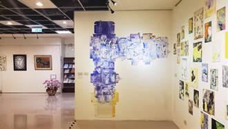 土城藝文館開幕辦繪畫展 邀國中同窗藝術家展出
