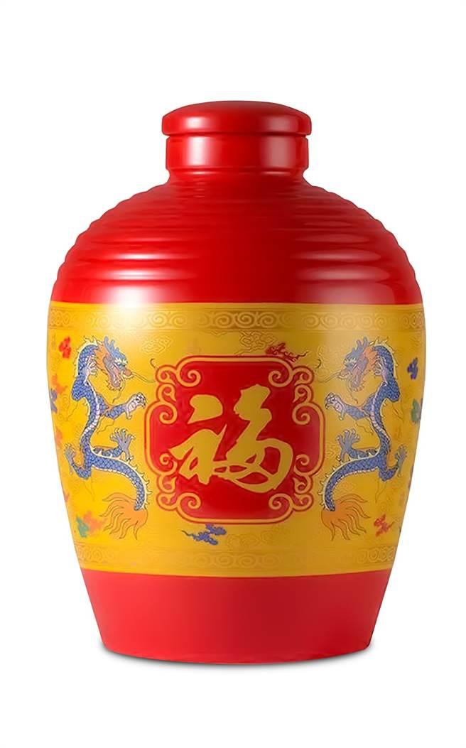 12公升典藏珍品雙金紀念酒(福)。(圖/ 金門酒廠提供)