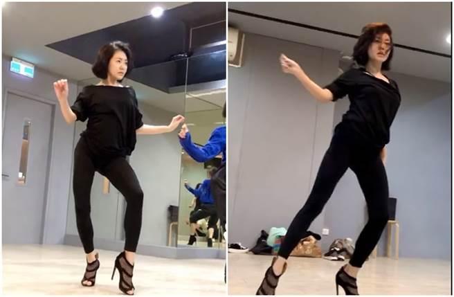小S辣跳高跟舞,她的妙曼舞姿讓小S火辣指數爆表。(圖/取材自小S Instagram)