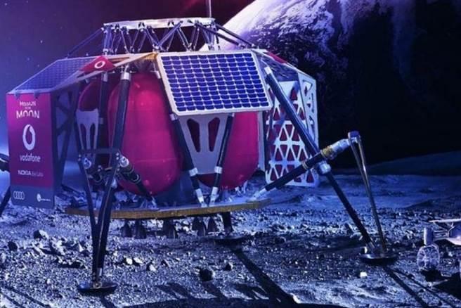 諾基亞取得月球上網路合約,將是第1具地球之外的網路基地台。(圖/Intuitive Machines)