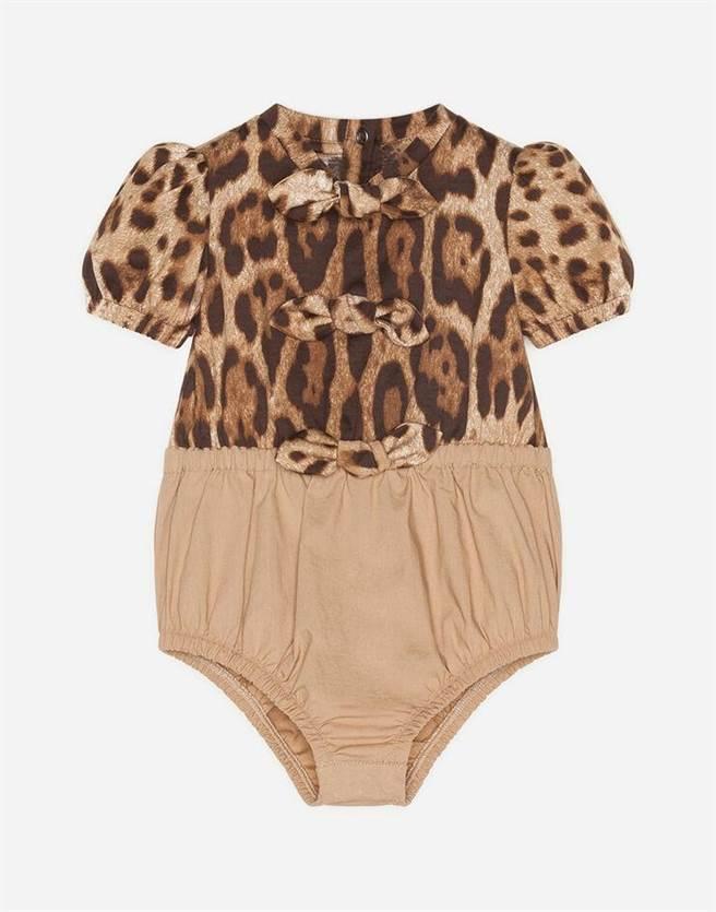 微風南山Dolce & Gabbana Junior豹紋包屁衣,1萬3700元。(微風提供)