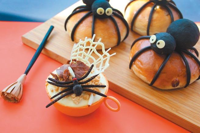 台中日月千禧酒店2020萬聖節蟲蟲系列甜點,可怕又可愛。圖/台中日月千禧酒店提供